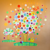 Gumball Tree Peel and Place Wall Sticker Mural