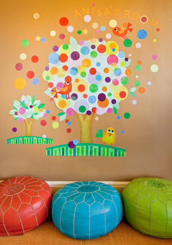 Gumball Tree Peel and Place Wall Sticker Mural - Wall Sticker Outlet