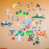 Happy Halloween Peel and Place Wall Mural