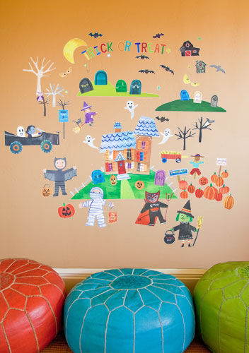 Happy Halloween Peel and Place Wall Mural - Wall Sticker Outlet