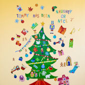 Happy Holidays Peel and Place Wall Mural