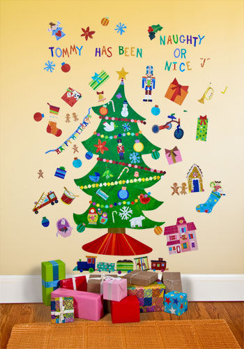 Happy Holidays Peel and Place Wall Mural - Wall Sticker Outlet