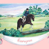 Horse Personalized Canvas Wall Art