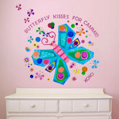 Jewel Butterfly Peel and Place Wall Mural
