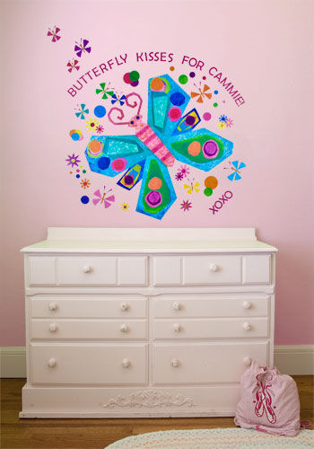 Jewel Butterfly Peel and Place Wall Mural - Wall Sticker Outlet