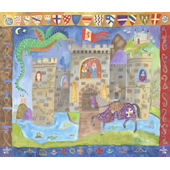Knights and Castle Wall Mural