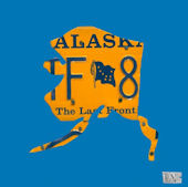 License Plate Alaska Blue Wall Canvas Art
