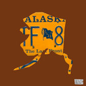 License Plate Alaska Chocolate Wall Canvas Art