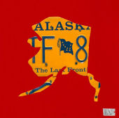 License Plate Alaska Red Wall Canvas Art