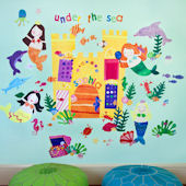 Mermaids Peel and Place Wall Sticker Mural