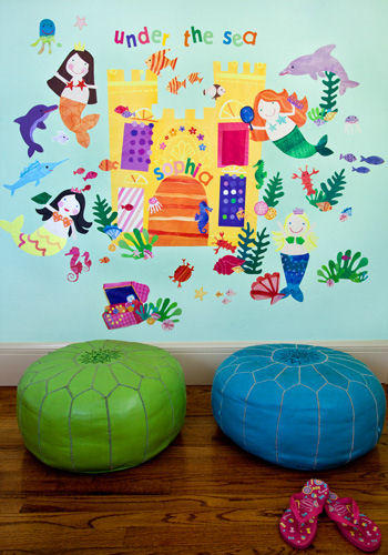 Mermaids Peel and Place Wall Sticker Mural - Wall Sticker Outlet