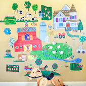 Fun On The Farm Peel and Place Wall Mural