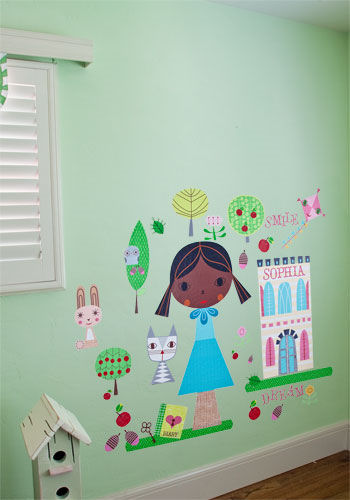 Paper Doll Annika Peel and Place Wall Mural - Wall Sticker Outlet