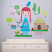 Paper Doll Claire Peel and Place Wall Mural