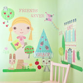 Paper Doll Goldi Peel and Place Wall Mural
