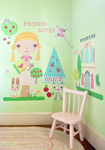 Paper Doll Goldi Peel and Place Wall Mural - Wall Sticker Outlet