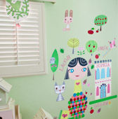 Paper Doll Lisa Peel and Place Wall Mural
