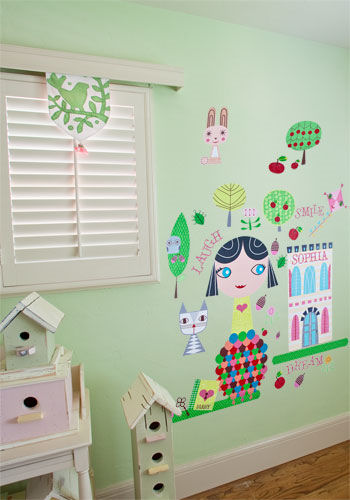 Paper Doll Lisa Peel and Place Wall Mural - Wall Sticker Outlet