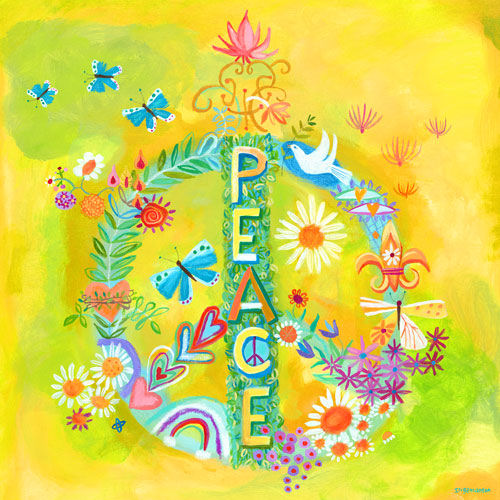 Peace For All Canvas Wall Art - Wall Sticker Outlet