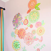 Radiant Flowers Peel and Place Wall Mural