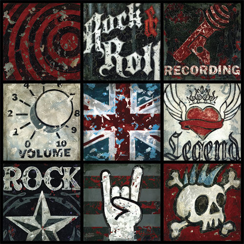Rock And Roll Large Wall Canvas Art
