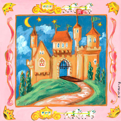 Storybook Castle Canvas Wall Art - Wall Sticker Outlet