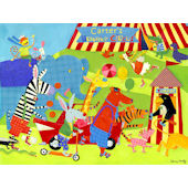 Traveling Circus Canvas Wall Art