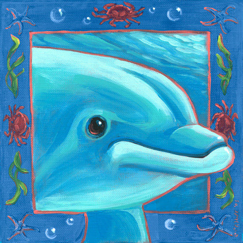 Underwater Dolphin Canvas Wall Art - Wall Sticker Outlet