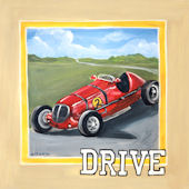 Vintage Drive Canvas Wall Art