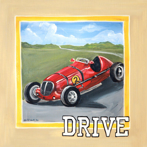 Vintage Drive Canvas Wall Art - Wall Sticker Outlet