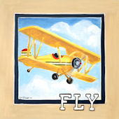Vintage Fly Canvas Wall Art