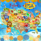 Explore The USA Personalized Canvas Wall Art
