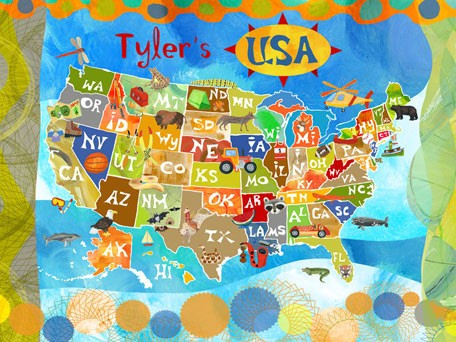 Explore The USA Personalized Canvas Wall Art - Wall Sticker Outlet