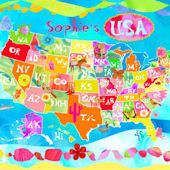 Happy Day USA Personalized Canvas Wall Art