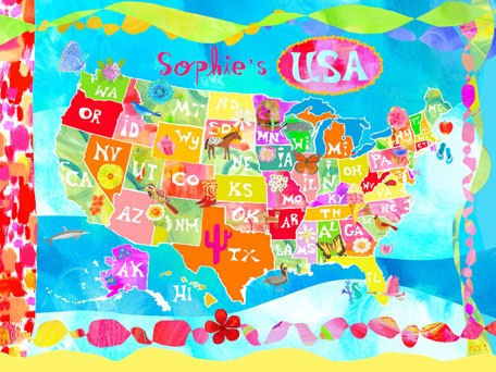 Happy Day USA Personalized Canvas Wall Art - Wall Sticker Outlet