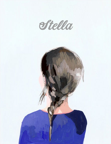 Brunette Braid Personalized Canvas Wall Art - Wall Sticker Outlet