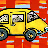 Beep Beep Canvas Wall Art
