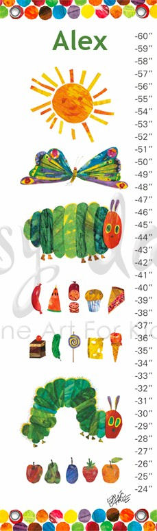 Very Hungry Caterpillar Canvas Growth Chart   Wall Sticker Outlet Part 97