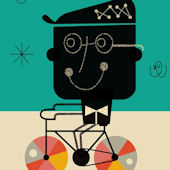 Bicycle Man Canvas Wall Art