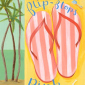 Pink Flip Flops Canvas Wall Art