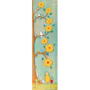Flower Tree Friends Canvas Growth Chart - Kids Wall Decor Store