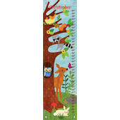 Friendly Forest Blue Canvas Growth Chart
