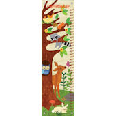 Friendly Forest Yellow Canvas Growth Chart