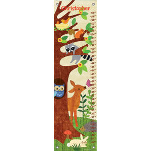 Friendly Forrest Yellow Canvas Growth Chart