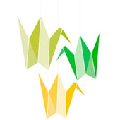 Origami Cranes Canvas Wall Art