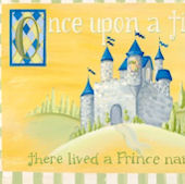 Fairy Tales Boys Personalized Canvas Wall Art