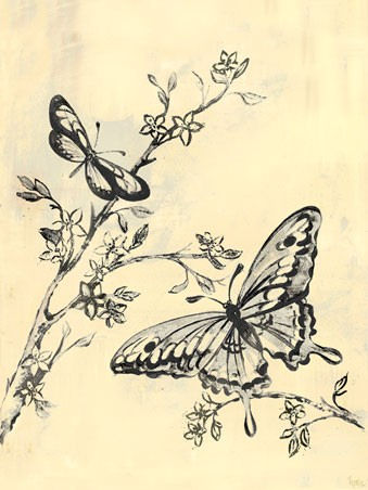 Toile Butterflies Black Canvas Wall Art - Wall Sticker Outlet