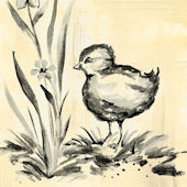 Toile Chickie Black Canvas Wall Art