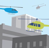 Helicopters Transportation Wall Canvas Art