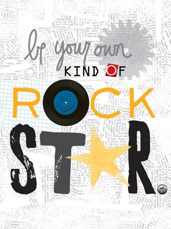 Be Your Own Kind Of Rock Star Canvas Wall Art - Wall Sticker Outlet
